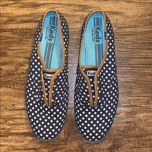 Keds Navy with White Polka Dots